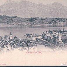 Postales: POSTAL SUIZA - LUZERN UND RIGI - PHOTOGLOB ZURICH 217 - PZ. Lote 193672583