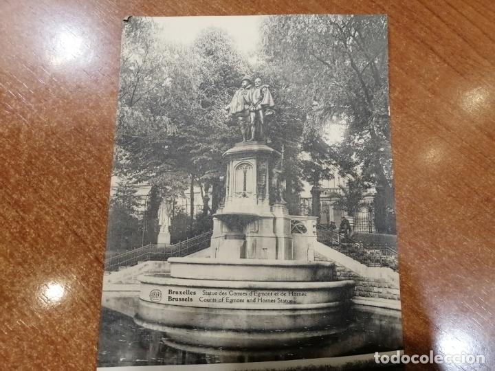 FOTO POSTAL BRUXELLES. ESTATUE DES COMTES D'EGMONT ET DE HORNES. 17.5*13.5 CM SIN CIRCULAR. ALBERT (Postales - Postales Extranjero - Europa)