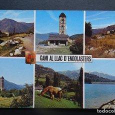 Postales: ANDORRA , CAMI AL LLAC D'ENGOLASTERS, POSTAL CIRCULADA DEL AÑO 1974. Lote 194220881