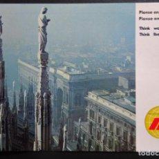Postales: MILAN , POSTAL DE LINEAS AÉREAS IBERIA CIRCULADA DEL AÑO 1984. Lote 194222005