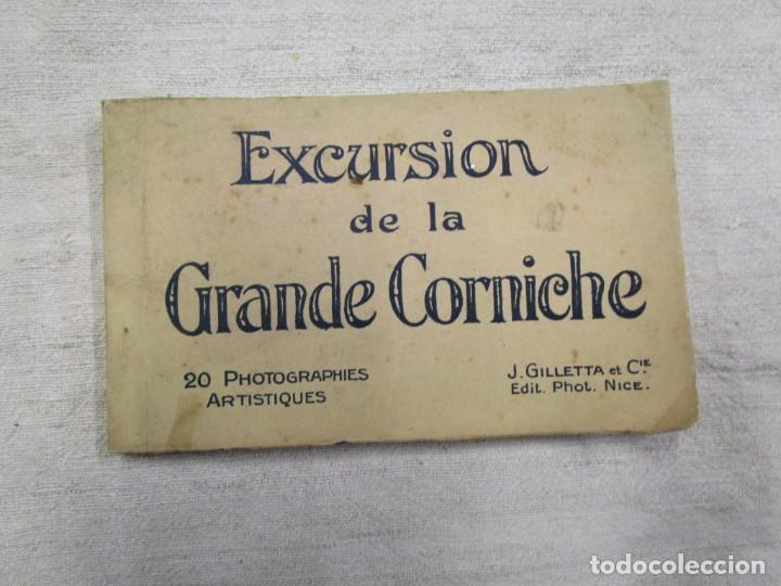 BLOCK COMPLETO 20 POSTALES FOTOGRAFICAS ' EXCURSION DE LA GRAN CORNICHE ' ALPES FRANCIA + (Postales - Postales Extranjero - Europa)
