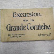 Postales: BLOCK COMPLETO 20 POSTALES FOTOGRAFICAS ' EXCURSION DE LA GRAN CORNICHE ' ALPES FRANCIA +. Lote 194237775