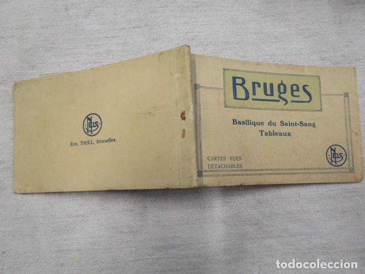 BLOCK COMPLETO 10 POSTALES 1927 BRUJAS BRUGES ' BASILIQUE DU SAINT SANG ' PINTURA BELGICA + (Postales - Postales Extranjero - Europa)