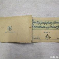 Postales: BLOCK COMPLETO 10 POSTALES APROX 1920 'JARDIN ZOOLOGICO ANVERS AMBERES ANTWERPEN' BELGICA BELGIUN +. Lote 194238870