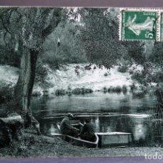 Postales: POSTAL FRANCIA LE COURANT D HUCHET LANDES COTE ARGENT ED ROGER SOURGEN CIRCULADA SELLO 1914. Lote 194291571