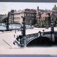 Postales: POSTAL BERLÍN ALEMANIA KAISSER WILHEM BRÜCKE MARSTALL BEHR & FLETCHER CIRCULADA SELLO 1906. Lote 194307665