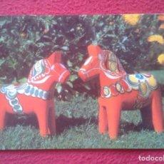 Postales: POSTAL POST CARD DALARNA SWEDEN SUECIA DALARNAS DALAHÄSTEN DALECARLIA´S SOUVENIR HORSES CABALLOS..... Lote 194373191