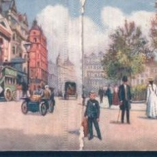 Postales: POSTAL LONDON PANORAMIC CARD 6636 - LEICESTER SQUARE - RAPHAEL TUCK & SONS OILETTE - POSTAL DOBLE . Lote 194378995
