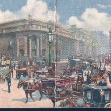 Postales: POSTAL LONDON PANORAMIC CARD 6636 - THE BANK OF ENGLAND - RAPHAEL TUCK & SONS OILETTE - POSTAL DOBLE. Lote 194380227