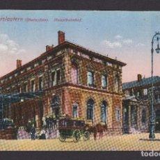 Postales: POSTAL ALEMANIA 1915 KAISERLAUTERN HAUPTBAHNHOF . Lote 194381043