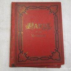 Postales: POSTALES FRANCIA - PARIS ET SES MONUMENTS - BLOCK DESPLEGABLE 13X16CM. 10 PLANCHAS, FINALES XIX + . Lote 194526526