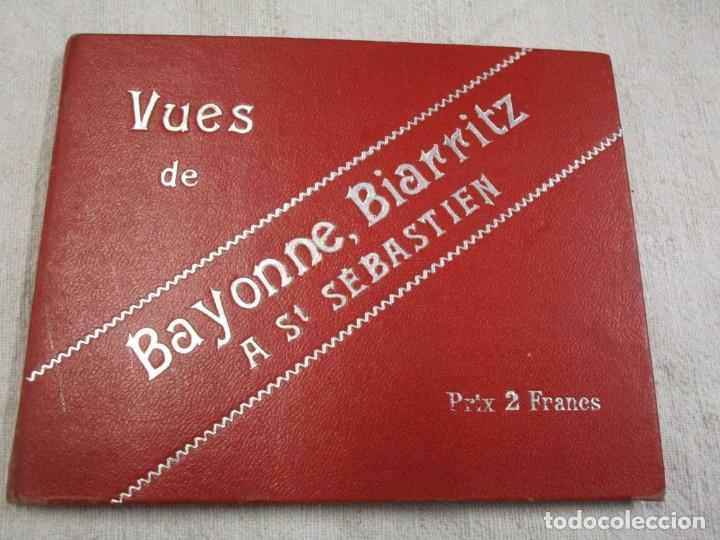POSTALES FRANCIA - BAYONNE BIARRITZ SAN SEBASTIAN - BLOCK 15X12CM. 24 PLANCHAS, HACIA 1900 + INFO (Postales - Postales Extranjero - Europa)