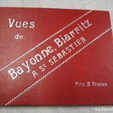 Postales: POSTALES FRANCIA - BAYONNE BIARRITZ SAN SEBASTIAN - BLOCK 15X12CM. 24 PLANCHAS, HACIA 1900 + INFO. Lote 194527497