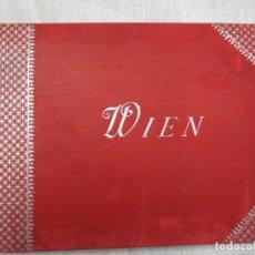 Postales: POSTALES BLOCK ACORDEON - AUSTRIA VIENA WIEN 18X14CM. 24 PLANCHAS, HACIA 1900 + INFO. Lote 194528127