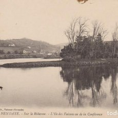 Postales: FRANCIA HENDAYE EL BIDASOA Y LA ISLA DE LOS FAISANES POSTAL CIRCULADA. Lote 194564966