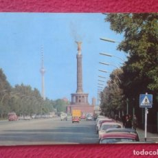 Postales: POSTAL POST CARD ALEMANIA GERMANY BERLIN STRABE DES 17 JUNI COCHES VOITURES CARS AUTOS CON SELLO..... Lote 194582262