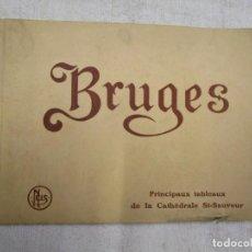 Postales: POSTALES BLOCK - BELGICA BRUJAS BRUGES, CUADROS CATEDRAL ' 20.5X15CM. 20 PLANCHAS, HACIA 1920 +INFO. Lote 194611118