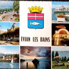 Postales: EVIAN-LES-BAINS. M.8 VISTAS VARIAS. NUEVA. COLOR. Lote 194663208