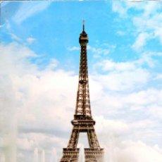 Postales: PARÍS. TORRE EIFFEL. USADAA. COLOR. Lote 194663265
