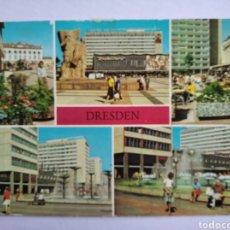 Postales: POSTAL ALEMANIA DRESDEN BLICK ZUM VERKEHRSMUSEUM CIRCULADA. Lote 194687570