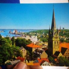 Postales: POSTAL FLENSBURG FORDE MIT NIKOLAIKIRCHE ANDRES AND CO.. Lote 194704220