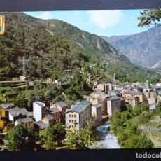Postales: ANDORRA LES ESCALDES, VISTA GENERAL. POSTAL CIRCULADA CON SELLOS DEL AÑO 1969. Lote 194721962