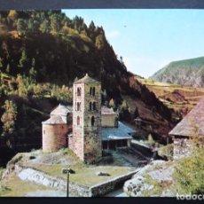Postales: ANDORRA, CANILLO, ESGLESIA DE ST. JOAN DE CASELLAS. ANTIGUA POSTAL SIN CIRCULAR APACOLOR. Lote 194722541