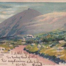 Postales: 1 POSTAL EN RELIEVE ''HOLD TO THE LIGHT'' DE 1900. Lote 194750850