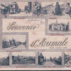 Postales: POSTAL FRANCIA - SOUVENIR D'AUMALE - CIRCULADA. Lote 194755438