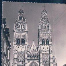 Postales: POSTAL FRANCIA - TOURS - FACADE DE LA CATHEDRALE - STEL - LUXE . Lote 194755990