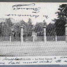 Postales: POSTAL BRUXELLES BRUSELAS BÉLGICA LE PETIT SABLON VED SIN DIVIDIR ESCRITA HACIA 1900. Lote 194780725