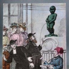 Postales: POSTAL BRUXELLES BRUSELAS BÉLGICA MANNEKEN PIS HUMOR SER 10 Nº 8 FG SIN DIVIDIR SIN CIRCULAR. Lote 194781090