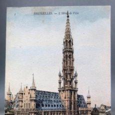 Postales: POSTAL BRUXELLES BRUSELAS BÉLGICA HÔTEL DE VILLE ND PHOT SIN CIRCULAR HACIA 1910. Lote 194781262