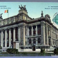 Postales: POSTAL ANVERS AMBERES ANTWERPEN BÉLGICA MUSÉE DES BEAUX ARTS CIRCULADA SELLO 1912. Lote 194789071