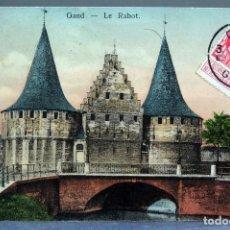 Postales: POSTAL GAND GANTE GENT BÉLGICA LE RABOT INNOVATION CIRCULADA SELLO 1911. Lote 194789567