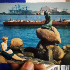 Postales: POSTAL COPENHAGUE DINAMARCA THE LITLE MERMAID AT THE LANGELINIE 1971 ESCRITA Y SELLADA. Lote 194877117