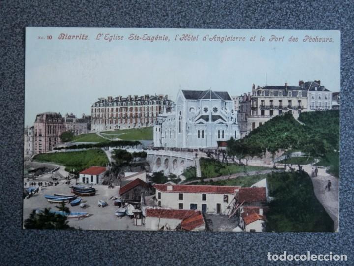 BIARRITZ HOTEL D'ANGLETERRE POSTAL ANTIGUA (Postales - Postales Extranjero - Europa)