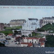 Postales: BIARRITZ HOTEL D'ANGLETERRE POSTAL ANTIGUA. Lote 194896860