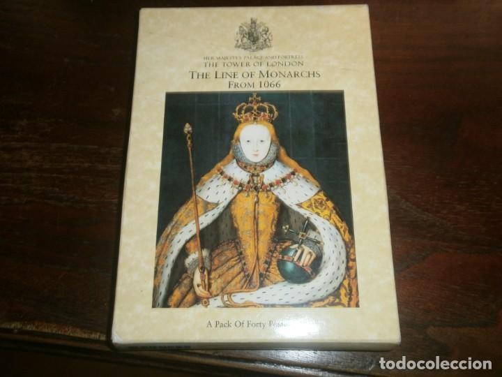 POSTCARD FOLDER PACK OF 40 CARDS THE LINE OF MONARCHS FROM 1066 TOWER OF LONDON (Postales - Postales Extranjero - Europa)