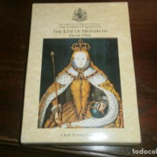 Postales: POSTCARD FOLDER PACK OF 40 CARDS THE LINE OF MONARCHS FROM 1066 TOWER OF LONDON. Lote 195005671