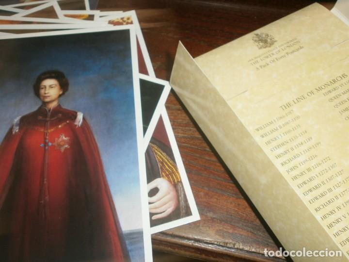 Postales: POSTCARD Folder Pack of 40 Cards THE LINE OF MONARCHS FROM 1066 Tower of London - Foto 8 - 195005671