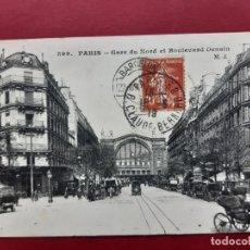 Postales: PARIS-PRINCIPIOS DE SIGLO-CON SELLO Y TIMBRE-. Lote 195027356