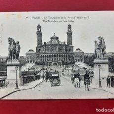Postales: PARIS-PRINCIPIOS DE SIGLO-CON SELLO Y TIMBRE-. Lote 195027578