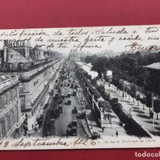 Postales: PARIS-PRINCIPIOS DE SIGLO-CON SELLO Y TIMBRE-EN CATALAN. Lote 195027941