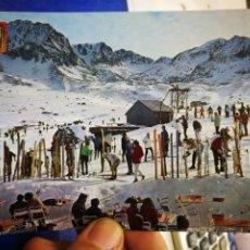 Postales: POSTAL VALLS D' ANDORRA PAS DE LA CASA PISTAS DE ESQUÍ N 4120 ESCUDO DE ORO S/C. Lote 195029876