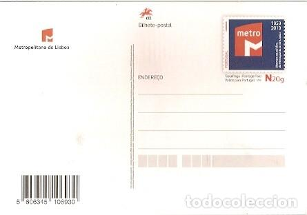 Postales: Portugal ** & I.P 60 Años de Apertura al Metropolitano de Lisboa 2019 (26783) - Foto 2 - 195034152