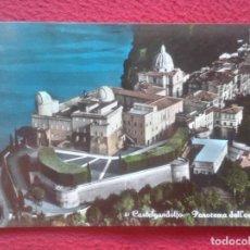 Postales: ANTIGUA POSTAL POST CARD CASTELGANDOLFO PANORAMA AÉREO, RESIDENCIA DE VERANO DEL PAPA ? ITALIA POPE. Lote 195040182