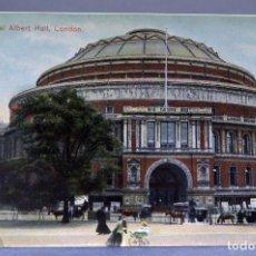 Postales: POSTAL LONDON LONDRES THE ROYAL ALBERT HALL ANIMADA CARRUAJES E1229 SIN CIRCULAR HACIA 1900. Lote 195083115