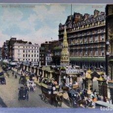 Postales: POSTAL LONDON LONDRES CHARING CROSS AND STRAND ANIMADA CARRUAJES E1229 SIN CIRCULAR HACIA 1900. Lote 195083251