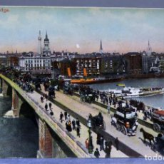 Postales: POSTAL LONDON LONDRES LONDON BRIDGE ANIMADA CARRUAJES E1229 SIN CIRCULAR HACIA 1900. Lote 195083673